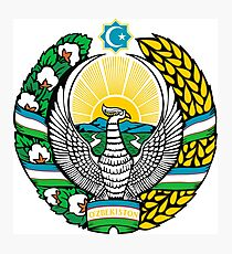 Emblem of Uzbekistan Photographic Print