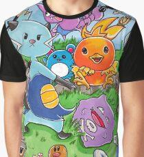 Pokemon Crowd Graphic T-Shirt