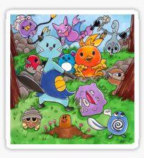 Pokemon Crowd Sticker