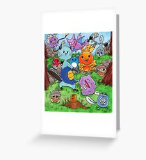 Pokemon Crowd Greeting Card