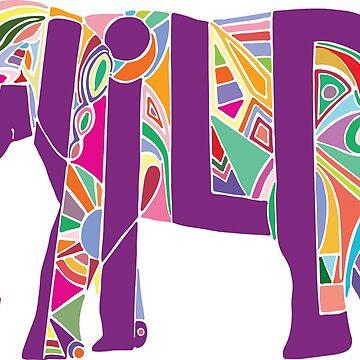 Colorful Wild Elephant by frespirit