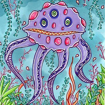 Swimmin' Amongst Monsters by katrinahajowyj