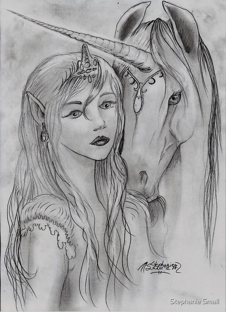 Unicorn and Princess by Stephanie Small