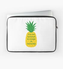 I'm not inclined to resign to maturity Laptop Sleeve