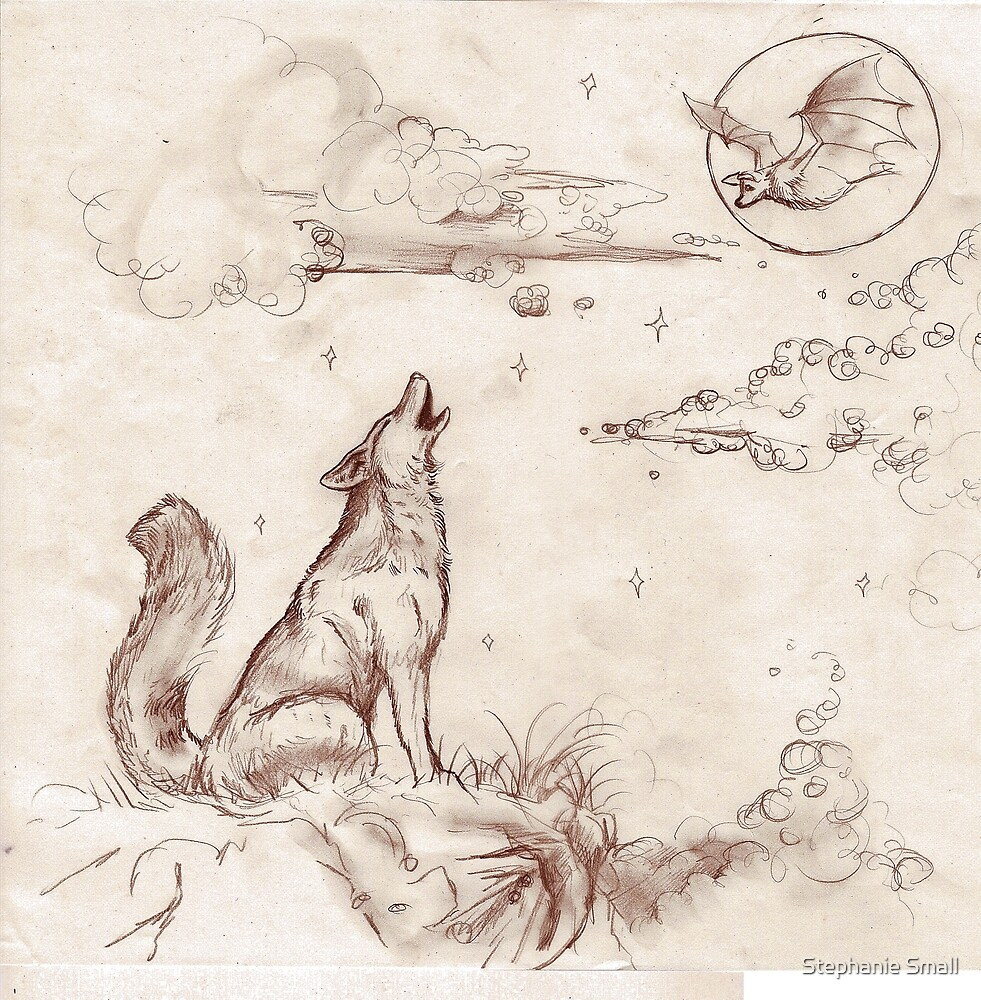 Coyote Wolf Dog Hound Puppy Canine Dog Wolves by Stephanie Small