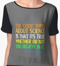 Neil deGrasse Tyson Popular Quote About Science Women's Chiffon Top