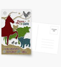 Barnyard Animals | Peace on Earth Christmas Postcards