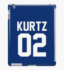 "Kurtz ""02"" Jersey iPad Case/Skin"
