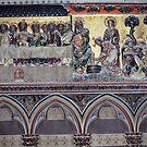 Last Supper Jesus washes disciples feet C14 Polychrome Notre Dame Paris 19840818 0041 NOT FOR SALE by Fred Mitchell