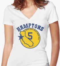 "Golden State ""Hamptons 5""  Women's Fitted V-Neck T-Shirt"