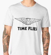 Time Flies (Flying Hourglass) Men's Premium T-Shirt