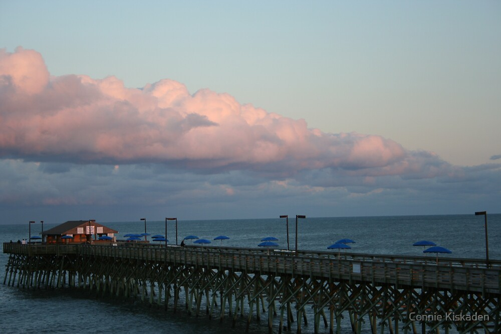 Pink Clouds at the Beach by Connie Kiskaden