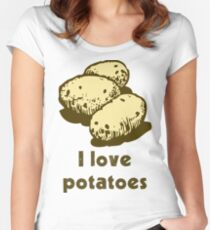 """""""I love potatoes"""" Women's Fitted Scoop T-Shirt"""