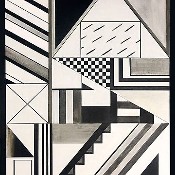 Abstract Art: Graphic Geometric Shapes & Lines by fossyboots