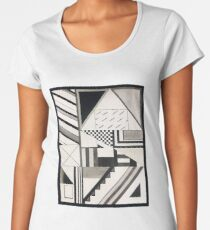 Abstract Art: Graphic Geometric Shapes & Lines Women's Premium T-Shirt