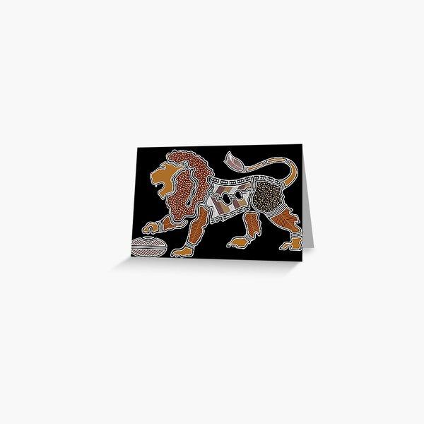 Authentic Aboriginal Art - Lion Greeting Card