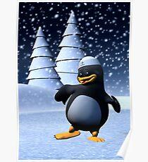 Dancing Penguin Poster