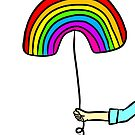 Rainbow Balloon by cozyreverie