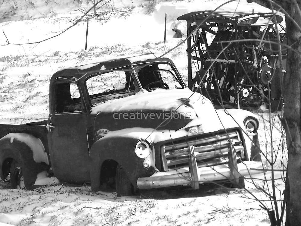 Old Chevy in the winter by creativevisions