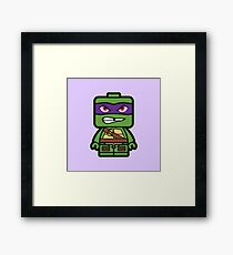 Chibi Donatello Ninja Turtle Framed Print