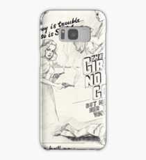 Graphic Novel Art: The Girl's No Good! Samsung Galaxy Case/Skin