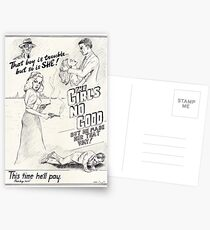 Graphic Novel Art: The Girl's No Good! Postcards