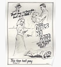 Graphic Novel Art: The Girl's No Good! Poster