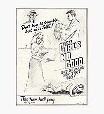 Graphic Novel Art: The Girl's No Good! Photographic Print