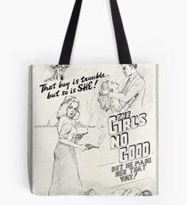 Graphic Novel Art: The Girl's No Good! Tote Bag