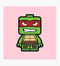 Chibi Raphael Ninja Turtle Photographic Print