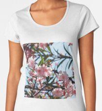 Pink oleander flowers  Women's Premium T-Shirt