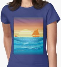 Count On Me Ocean Illustration Women's Fitted T-Shirt
