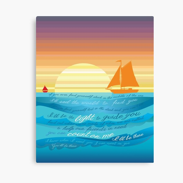 Count On Me Ocean Illustration Canvas Print