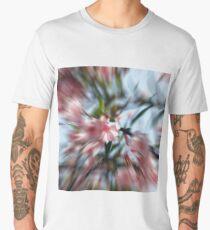 Pink oleander flowers background Men's Premium T-Shirt
