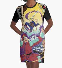 Marconi versus Bison Graphic T-Shirt Dress