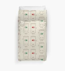 log on and log off Duvet Cover