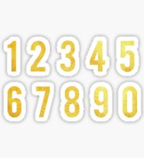 Gold Number Stickers Sticker