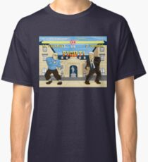 French Theory Fighter - Foucault vs Derrida Classic T-Shirt