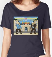 French Theory Fighter - Foucault vs Derrida Women's Relaxed Fit T-Shirt