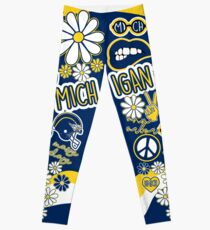 Michigan Flower Collage Leggings