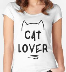 Cat Lover - Black Women's Fitted Scoop T-Shirt
