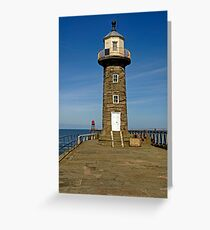 Disused East Pier Lighthouse, Whitby Greeting Card