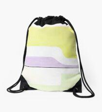Abstract: Mint, Yellow & Lavender Drawstring Bag
