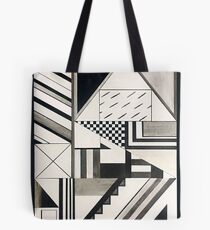 Abstract Art: Graphic Geometric Shapes & Lines Tote Bag