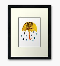 "HIMYM: ""Funny how"" Framed Print"