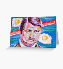 Ron Swanson Greeting Card