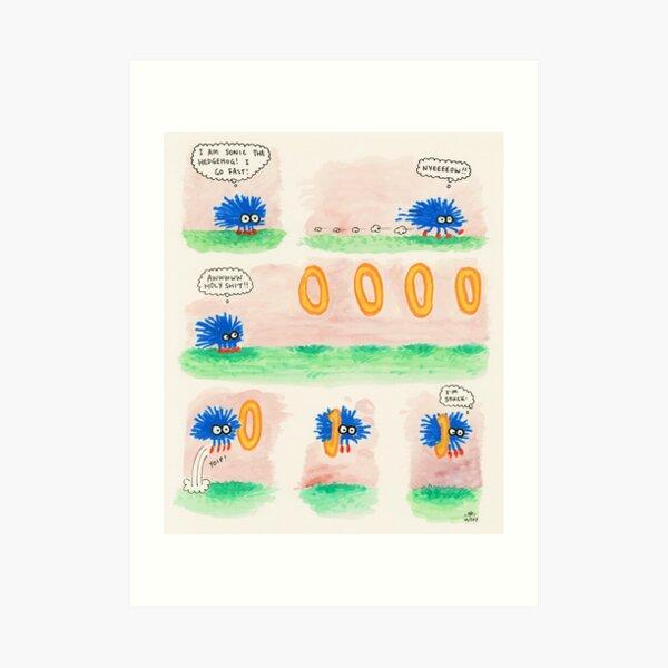 Sonic Goes Fast (Nyeeeeow!!) Art Print