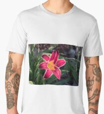 Red lily flower head Men's Premium T-Shirt