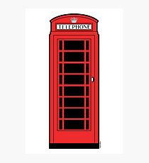 British Red Phone Box Photographic Print
