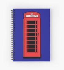British Red Phone Box Spiral Notebook